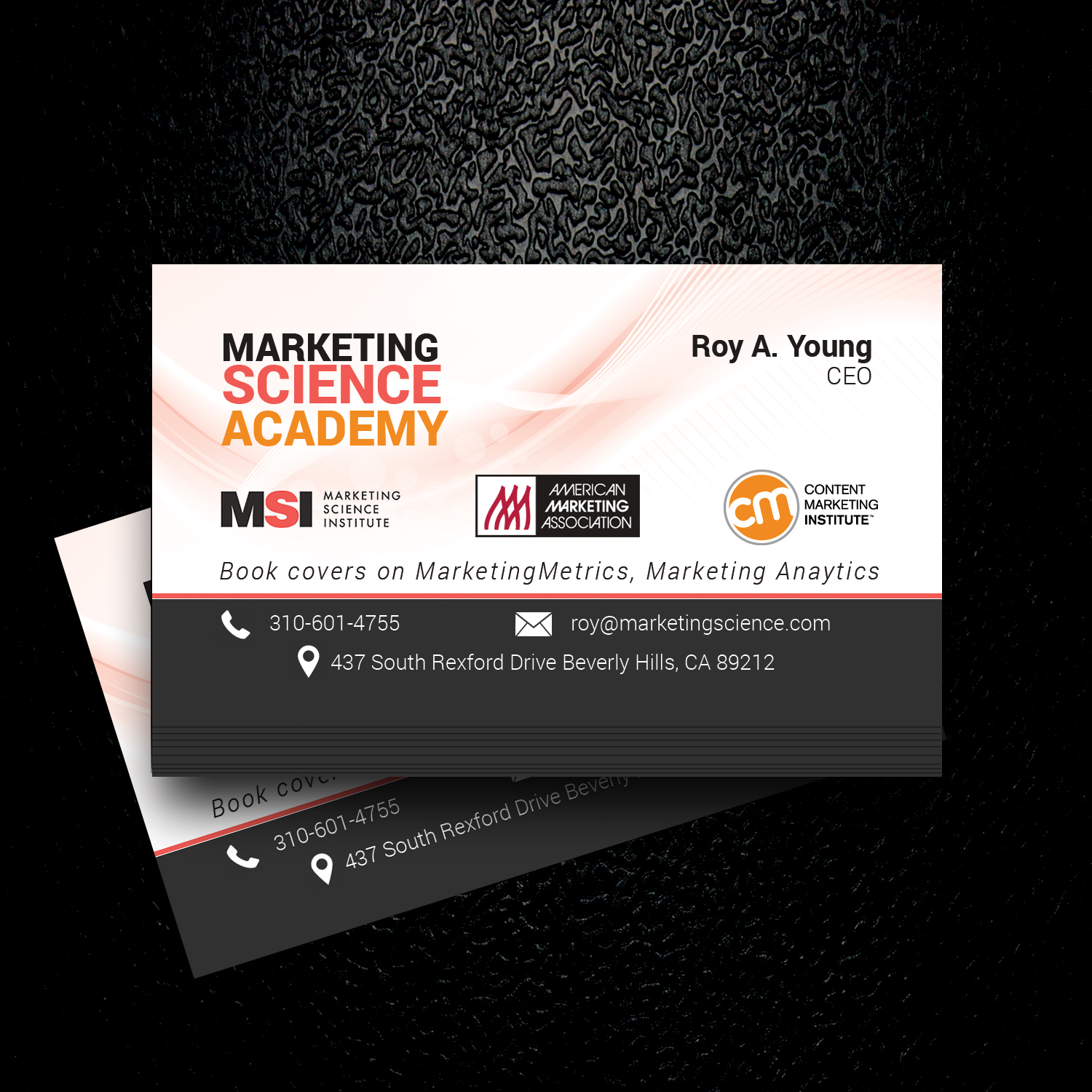 elegant playful business card design for roy young by uk