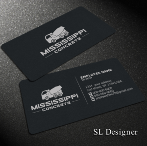 Business Card Design (Design #9939349) submitted to ready mix concrete  business (Closed
