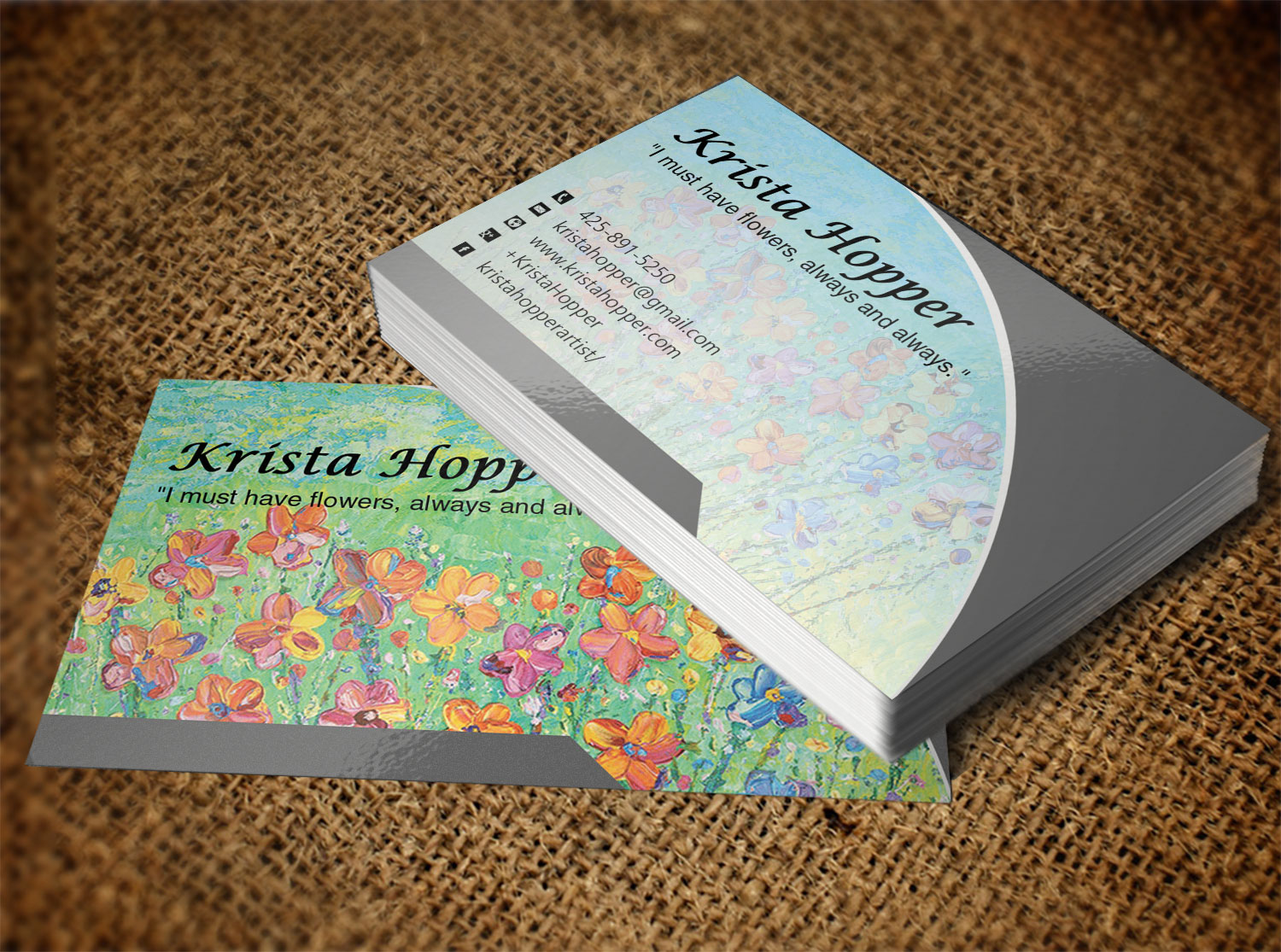 Colorful, Personable Business Card Design for Krista Hopper by Lanka ...