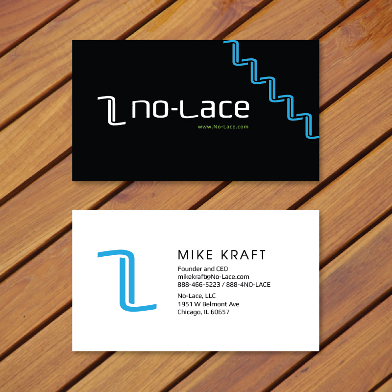 Bold playful business card design for no lace by thanhsugar business card design by thanhsugar for business card design for founder and ceo of new shoe colourmoves