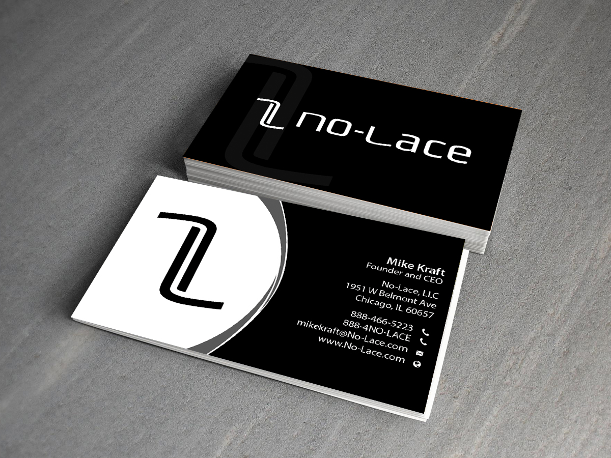 Bold playful business card design for no lace by creations box 2015 business card design by creations box 2015 for business card design for founder and ceo of colourmoves