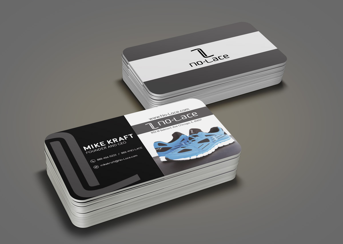 Bold, Playful, Business Business Card Design for No-Lace by Regur ...