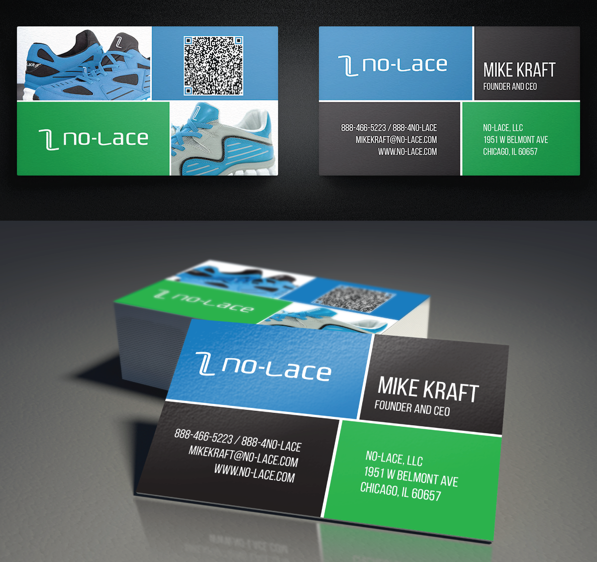 Bold, Playful, Business Business Card Design for No-Lace by COO COO ...