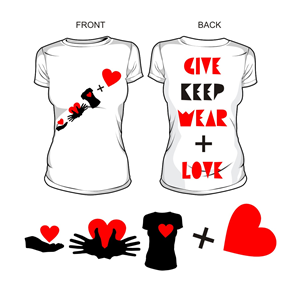 T-shirt Design by Amduat - Give Keep Wear + Love