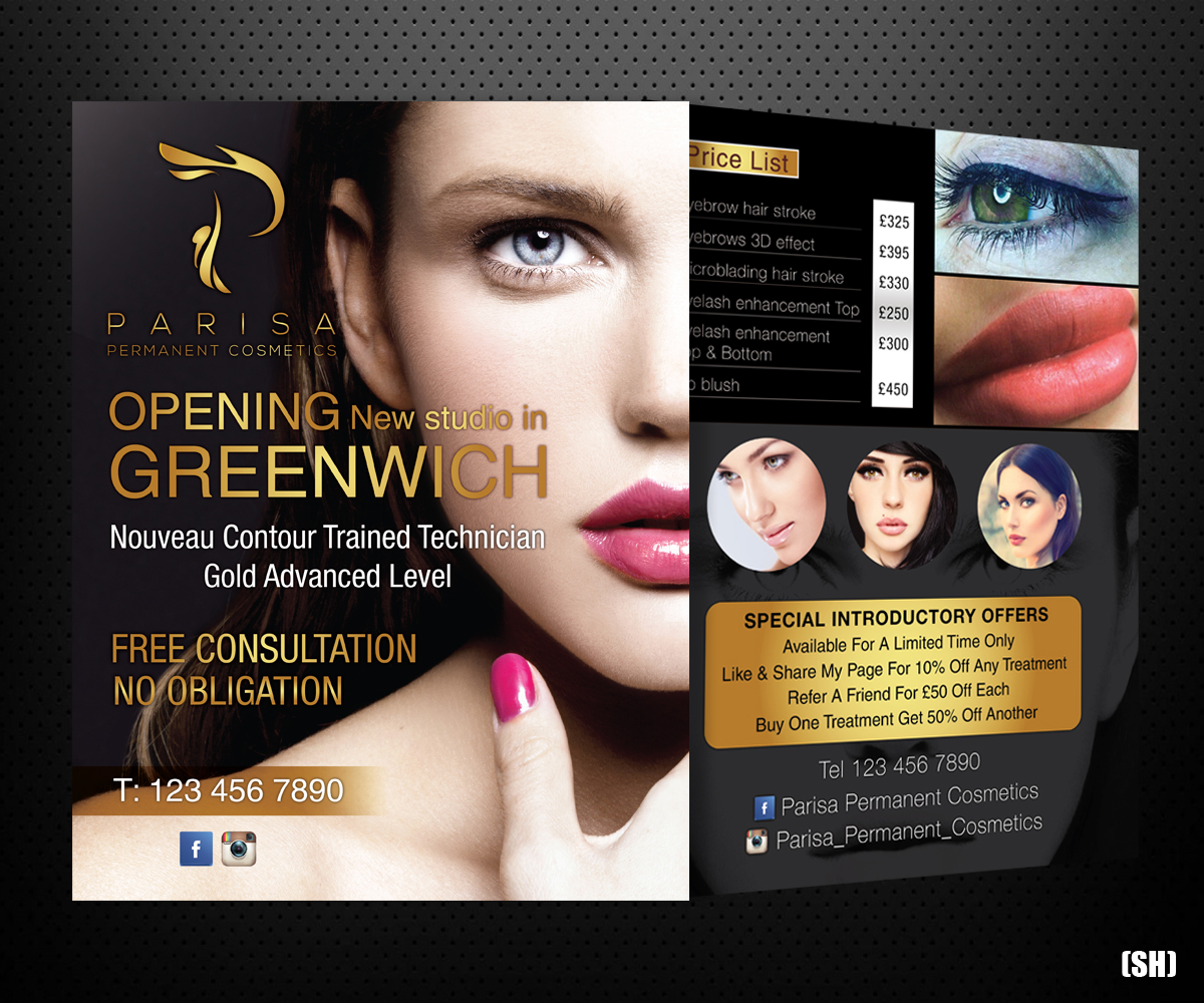 Bold playful beauty salon flyer design for a company by for Beauty project ideas