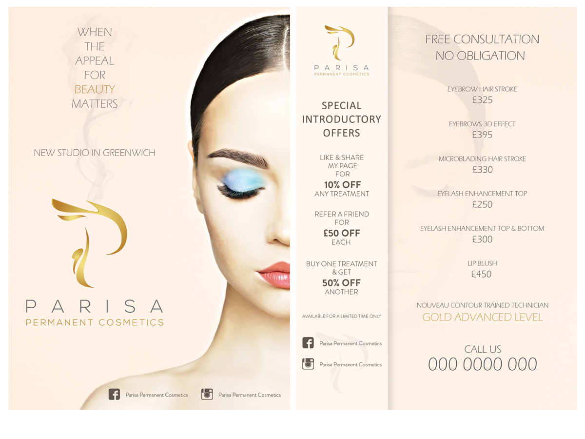 bold  playful  beauty salon flyer design for a company by leonfx