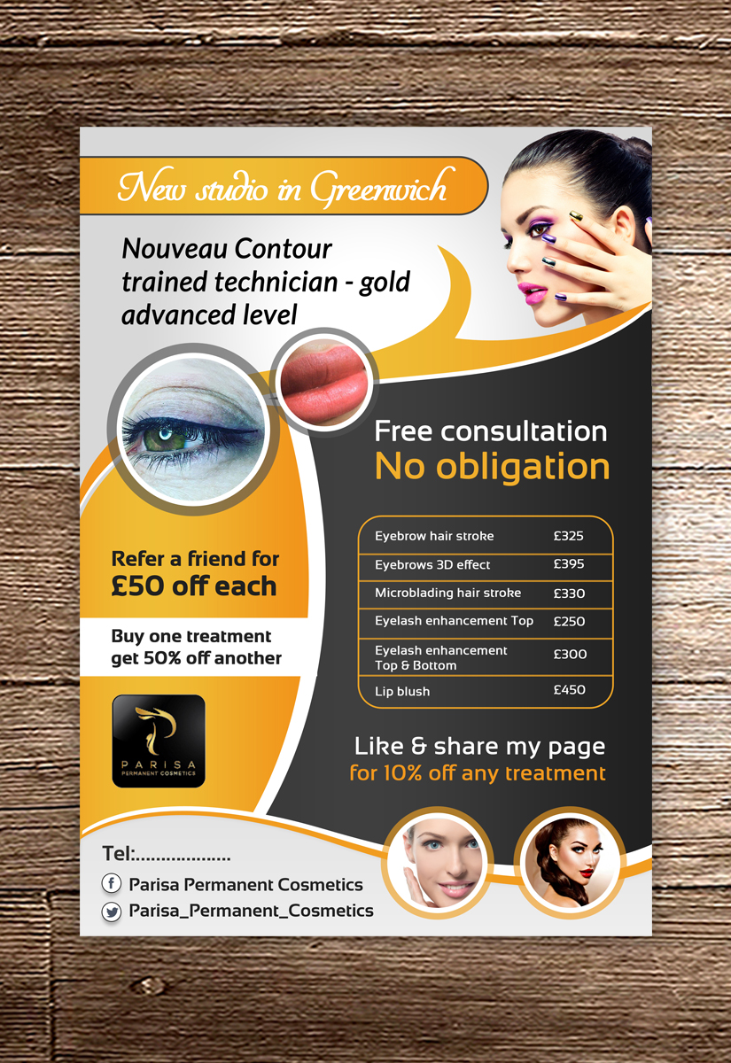 59 Bold Playful Cosmetics Flyer Designs for a Cosmetics business ...