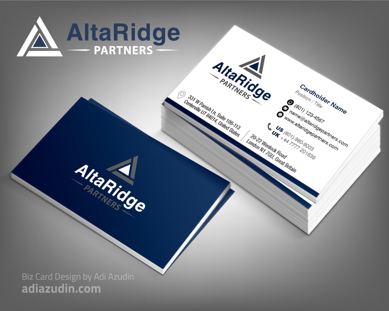 Bold modern business business card design for altaridge partners bold modern business business card design for altaridge partners in united states design 10287101 colourmoves