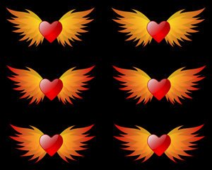Art Design by inspiral - Heart with Wings of Flame