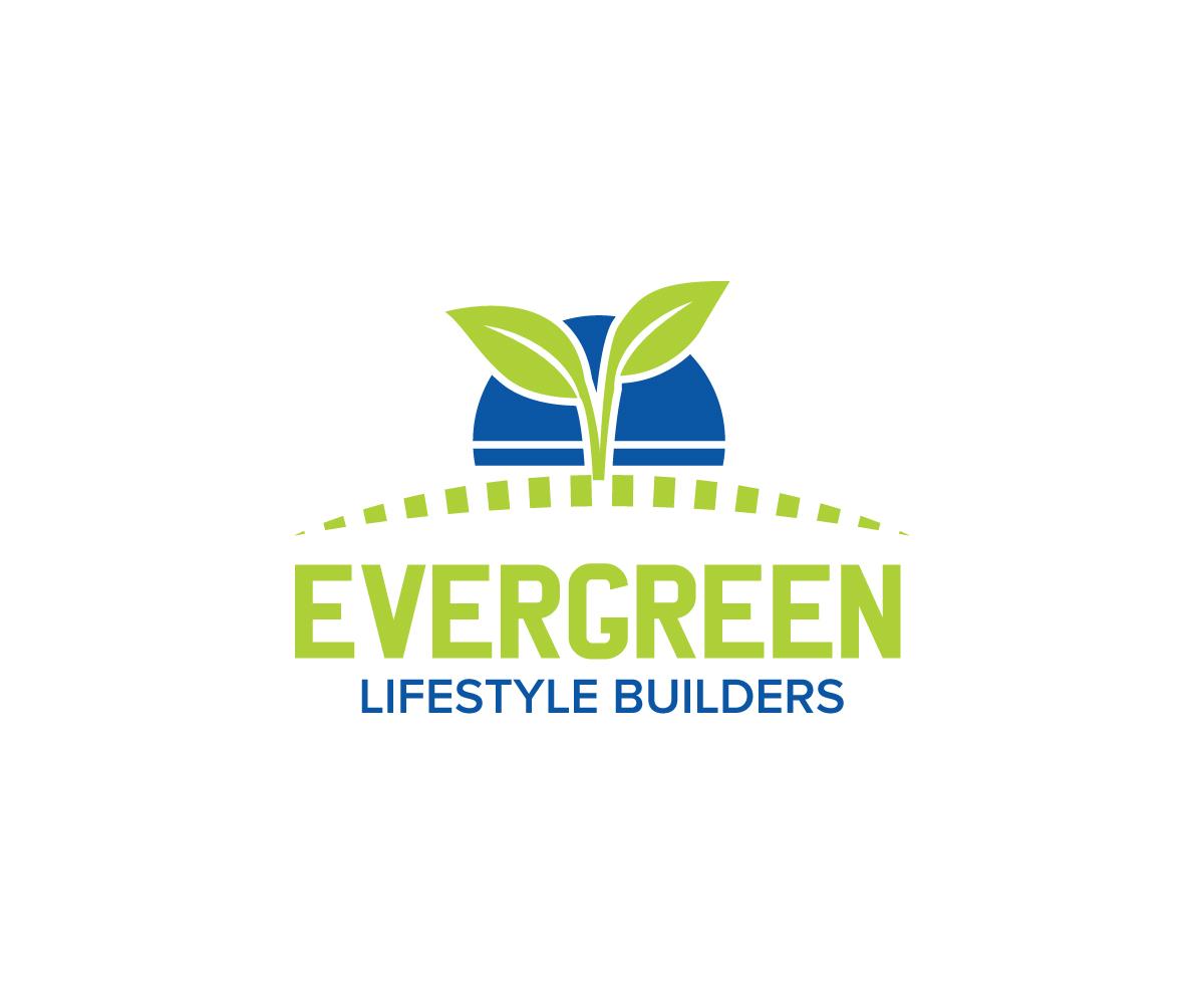 Serious Feminine Construction Logo Design For Evergreen Lifestyle Builders By Logico Design 10010026
