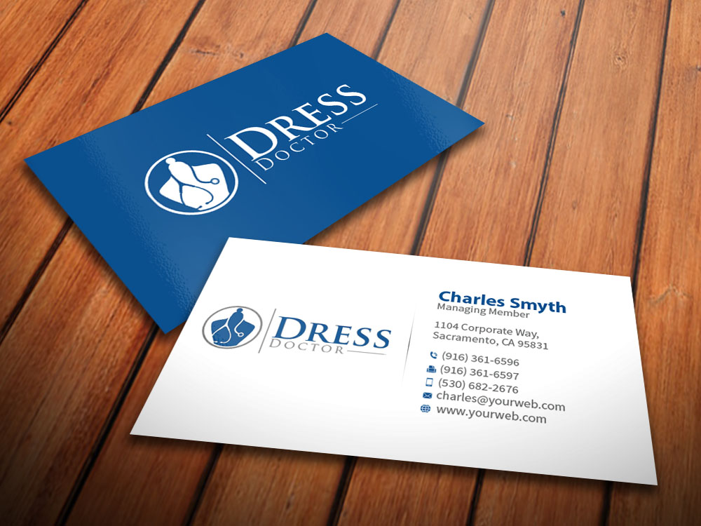 Bold modern professional service business card design for dress bold modern professional service business card design for dress doctor in united states design 10094568 reheart Gallery