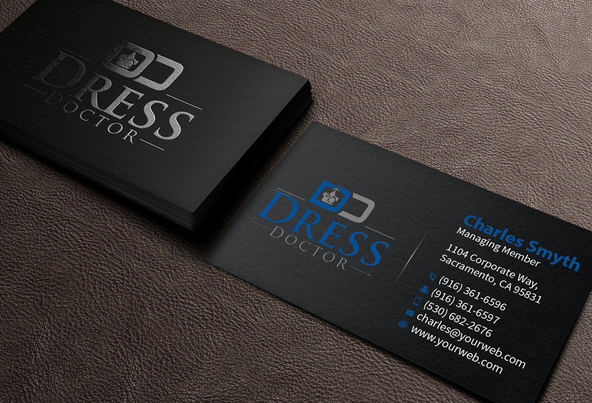 Bold modern professional service business card design for dress bold modern professional service business card design for dress doctor in united states design 10094833 reheart Gallery
