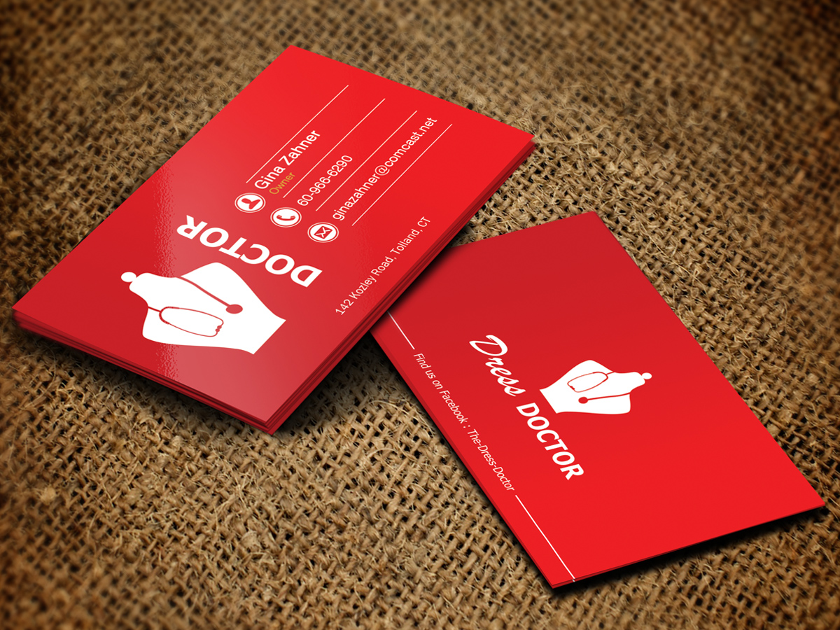Bold modern professional service business card design for dress bold modern professional service business card design for dress doctor in united states design 10075688 reheart Gallery
