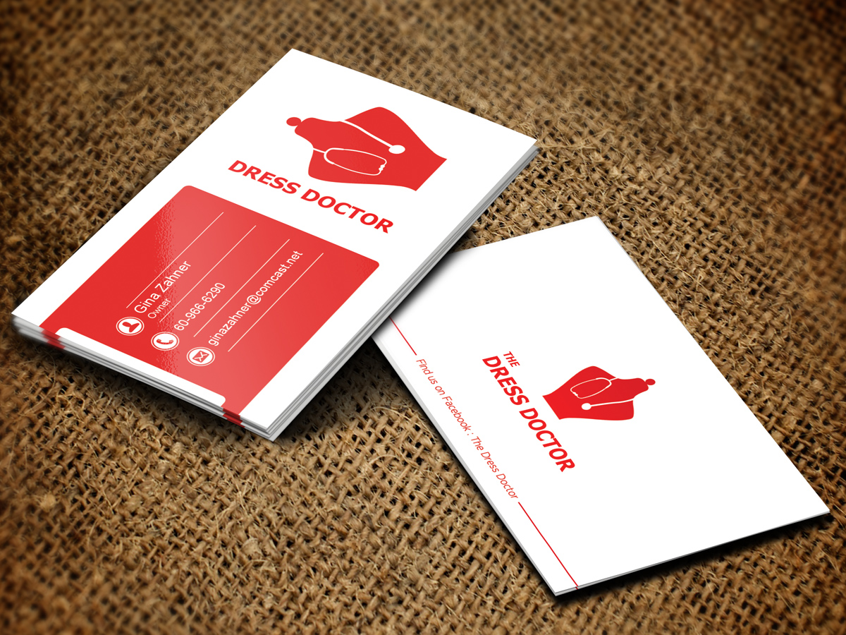 Bold modern professional service business card design for dress bold modern professional service business card design for dress doctor in united states design 10080839 reheart Gallery