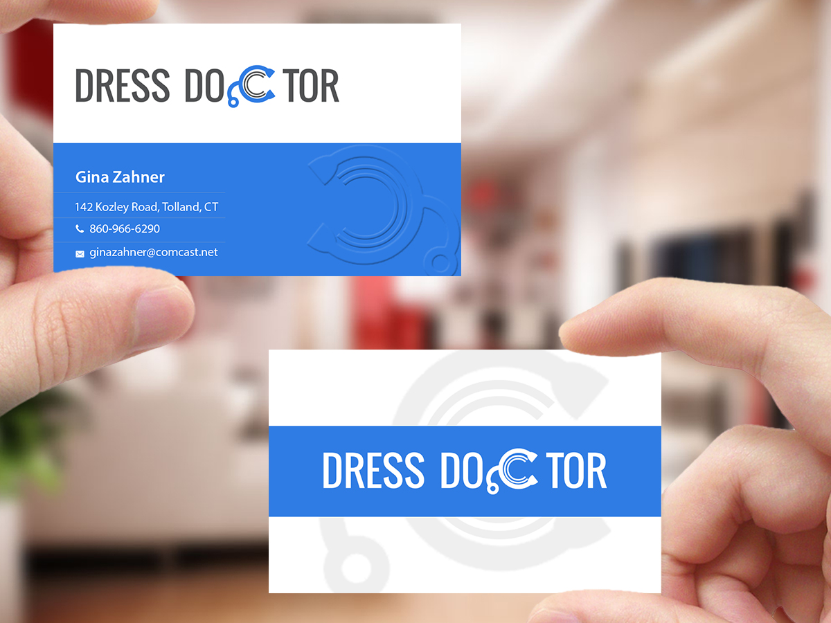 Bold modern professional service business card design for dress bold modern professional service business card design for dress doctor in united states design 10097002 reheart Gallery