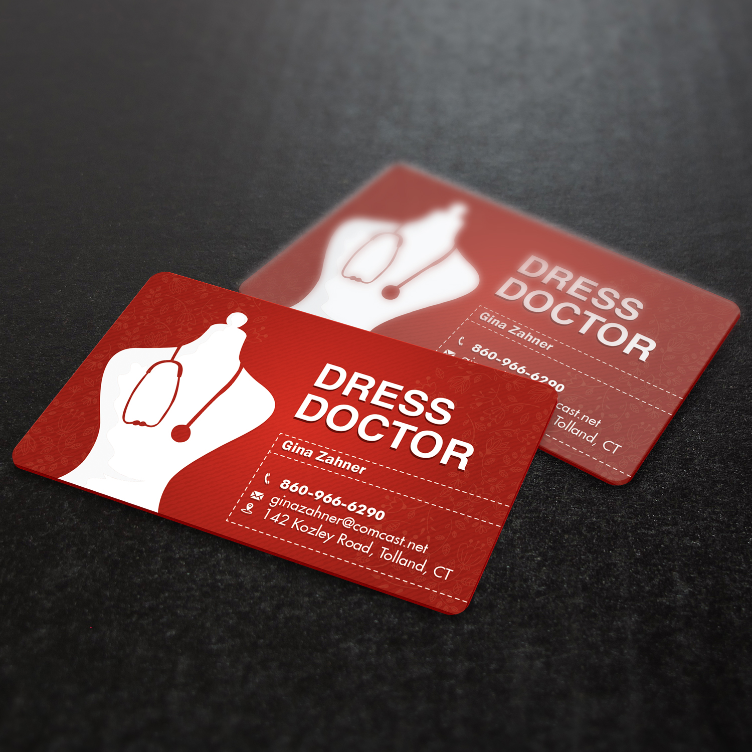 Bold modern professional service business card design for dress bold modern professional service business card design for dress doctor in united states design 10035592 reheart Gallery