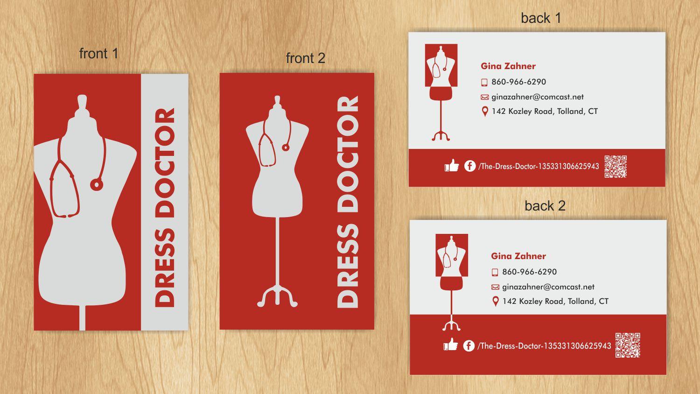 Bold modern business card design for dress doctor by inesero business card design by inesero for dress doctor business card design design 10038271 magicingreecefo Images