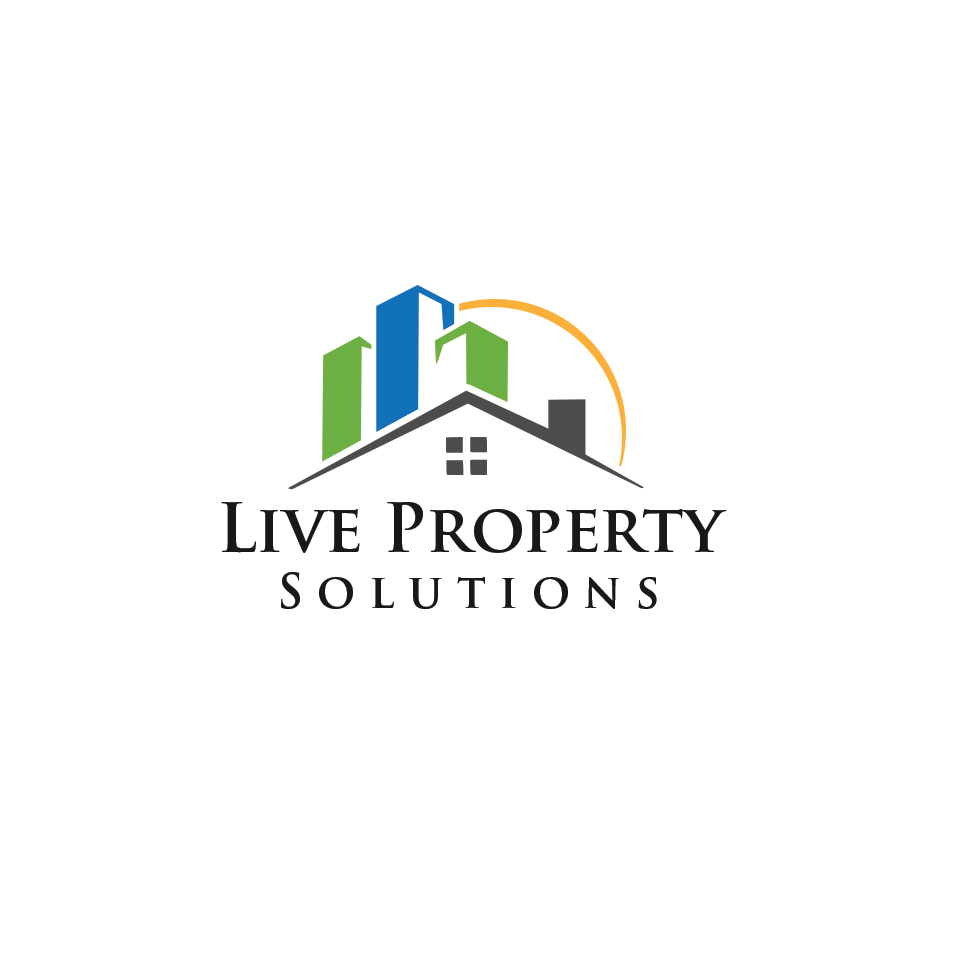 Modern bold logo design for live property solutions by for Modern house logo