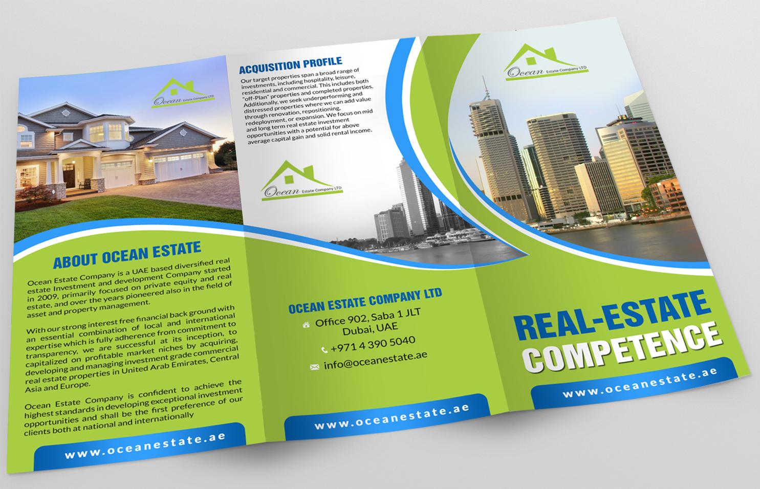 Upmarket Property Development Brochures : Upmarket elegant real estate development flyer designs