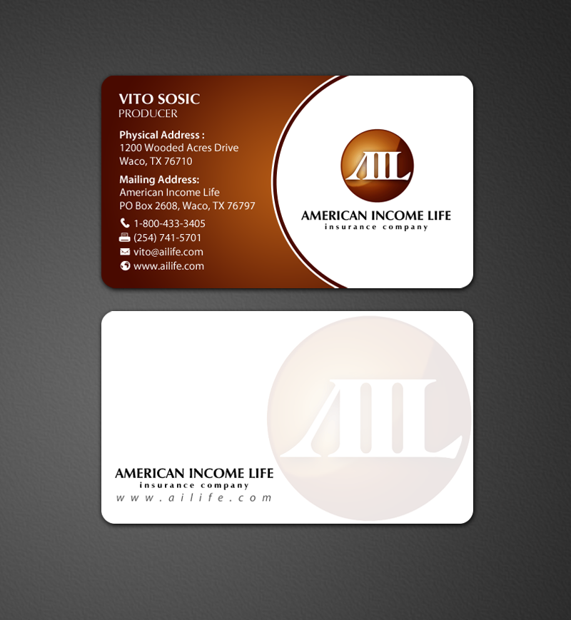 Serious Professional Business Business Card Design For A Company