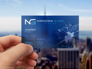 glass business card design galleries for inspiration