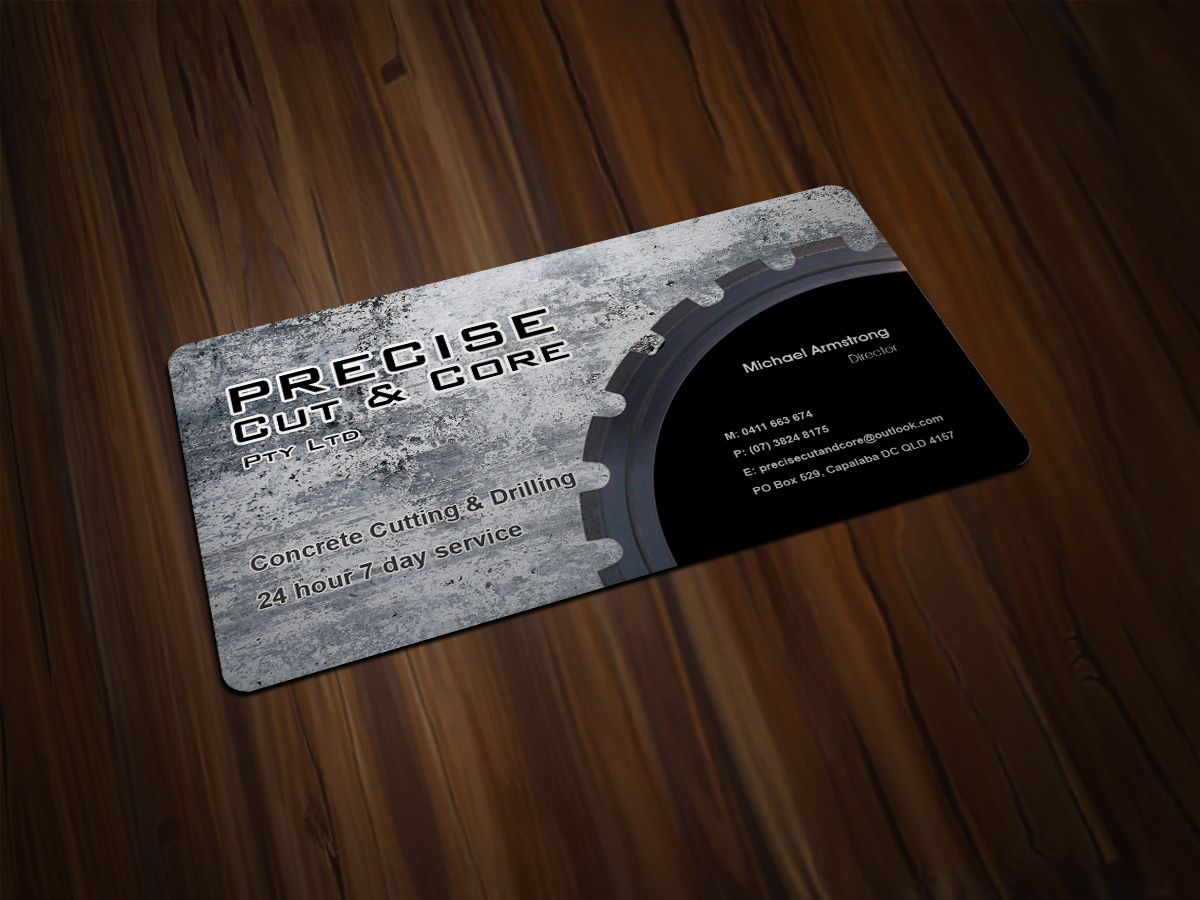 21 elegant playful concrete business card designs for a for Masonry business card ideas