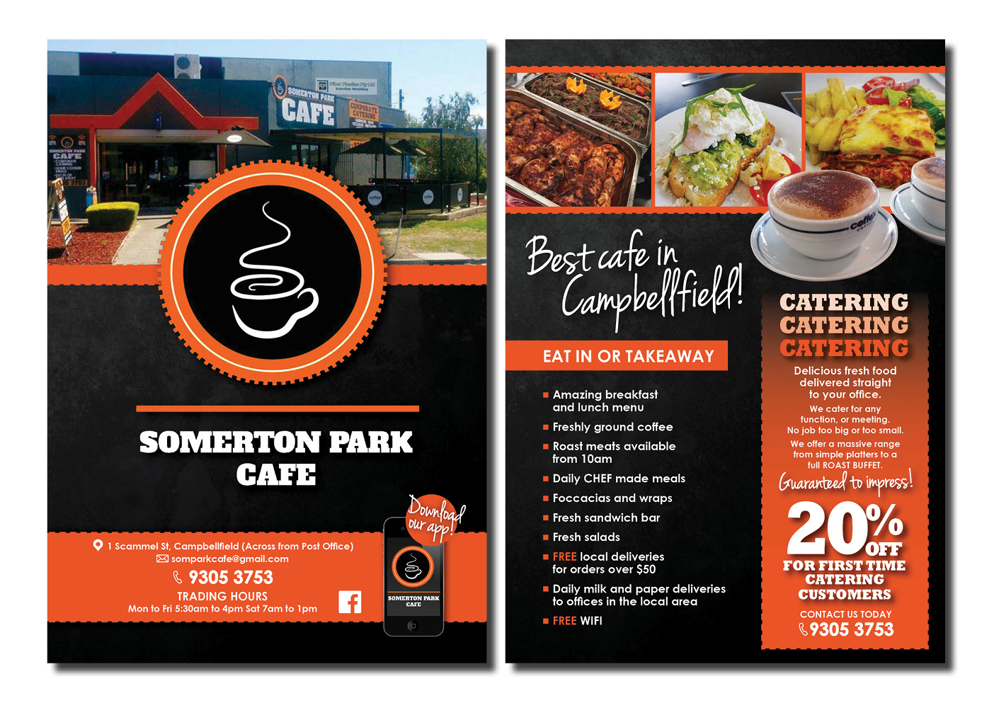 27 elegant flyer designs cafe flyer design project for somerton