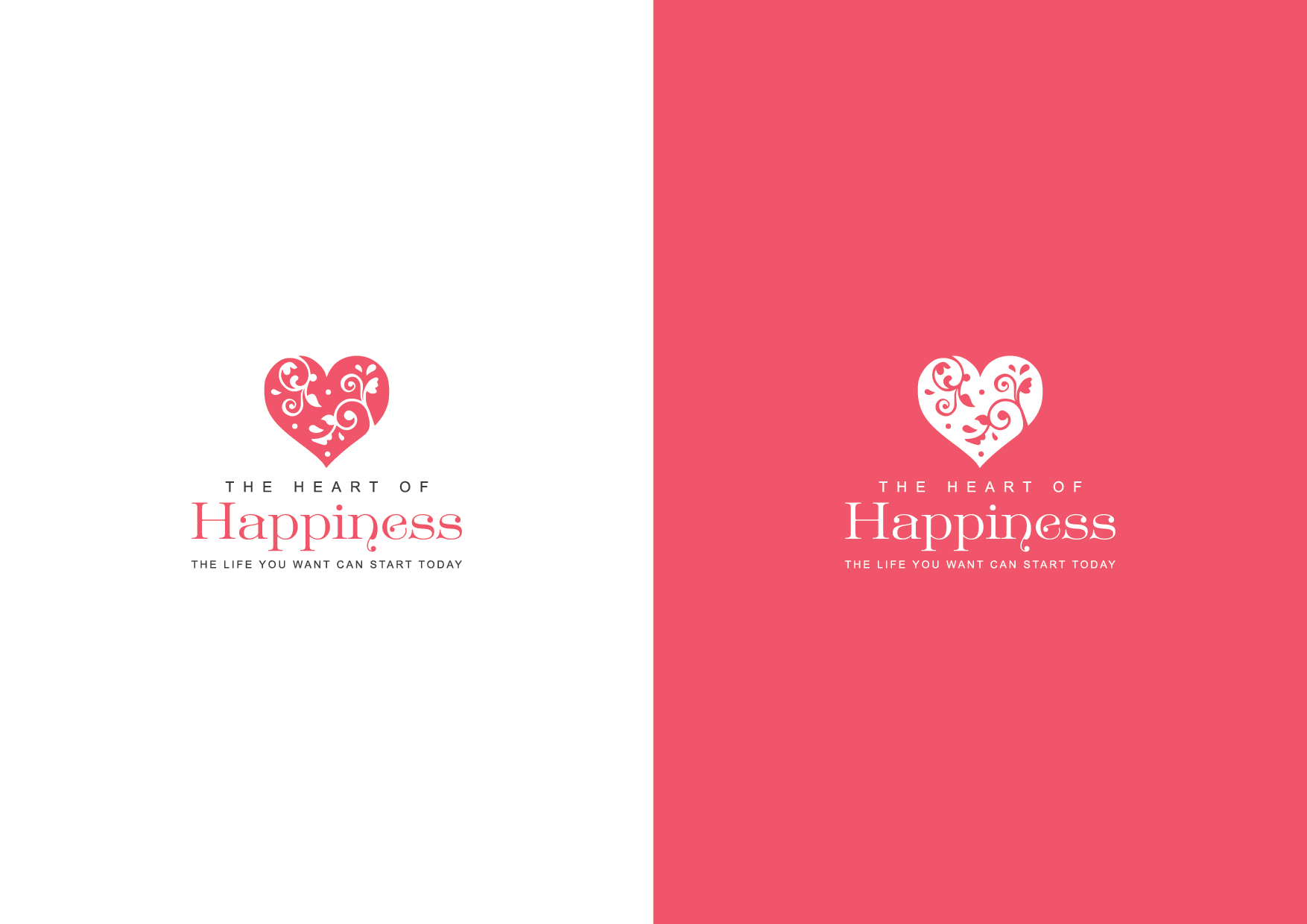 upmarket playful health and wellness logo design for the heart of