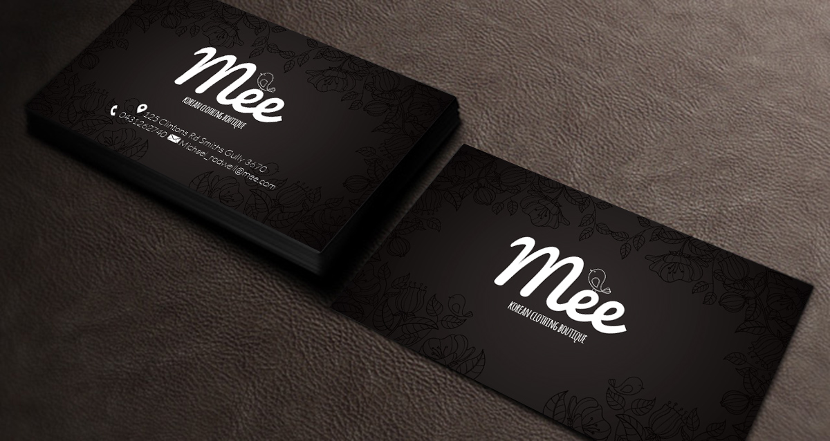 Clothing business card design for mee by priyo subarkah design business card design by priyo subarkah for mee design 10180795 reheart Gallery