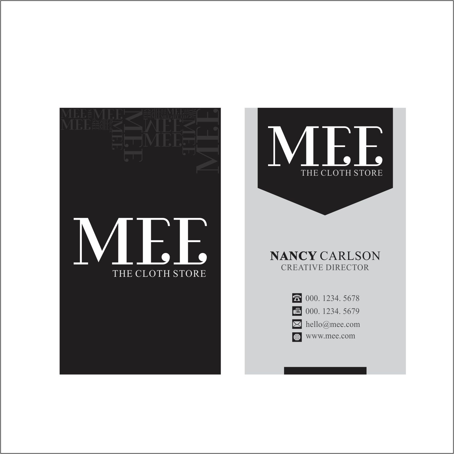 Clothing Business Card Design for mee by dzinelemon | Design #10199823