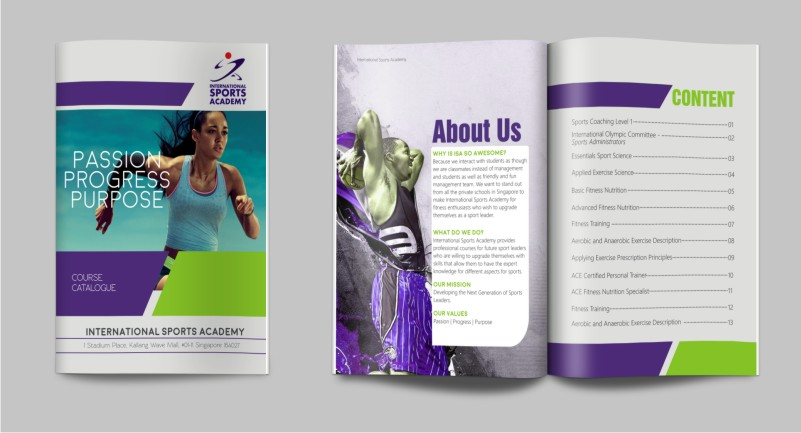 Modern Bold School Brochure Designs For A School Business In