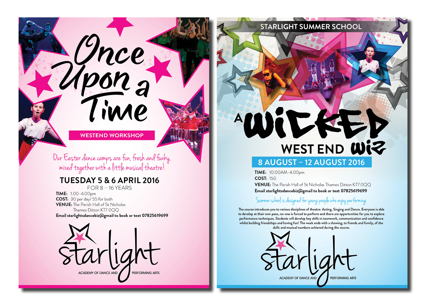 modern professional school flyer design for starlight dance