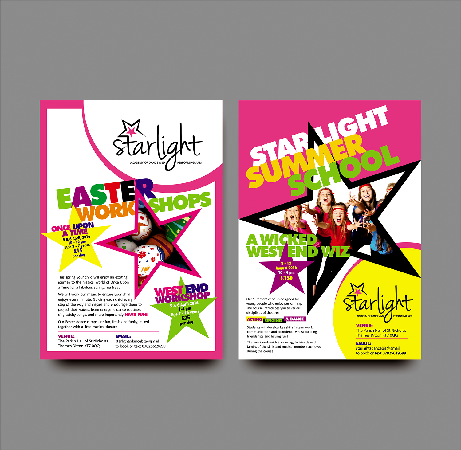 Easter & Summer School Dance Camps | 46 Flyer Designs for Starlight