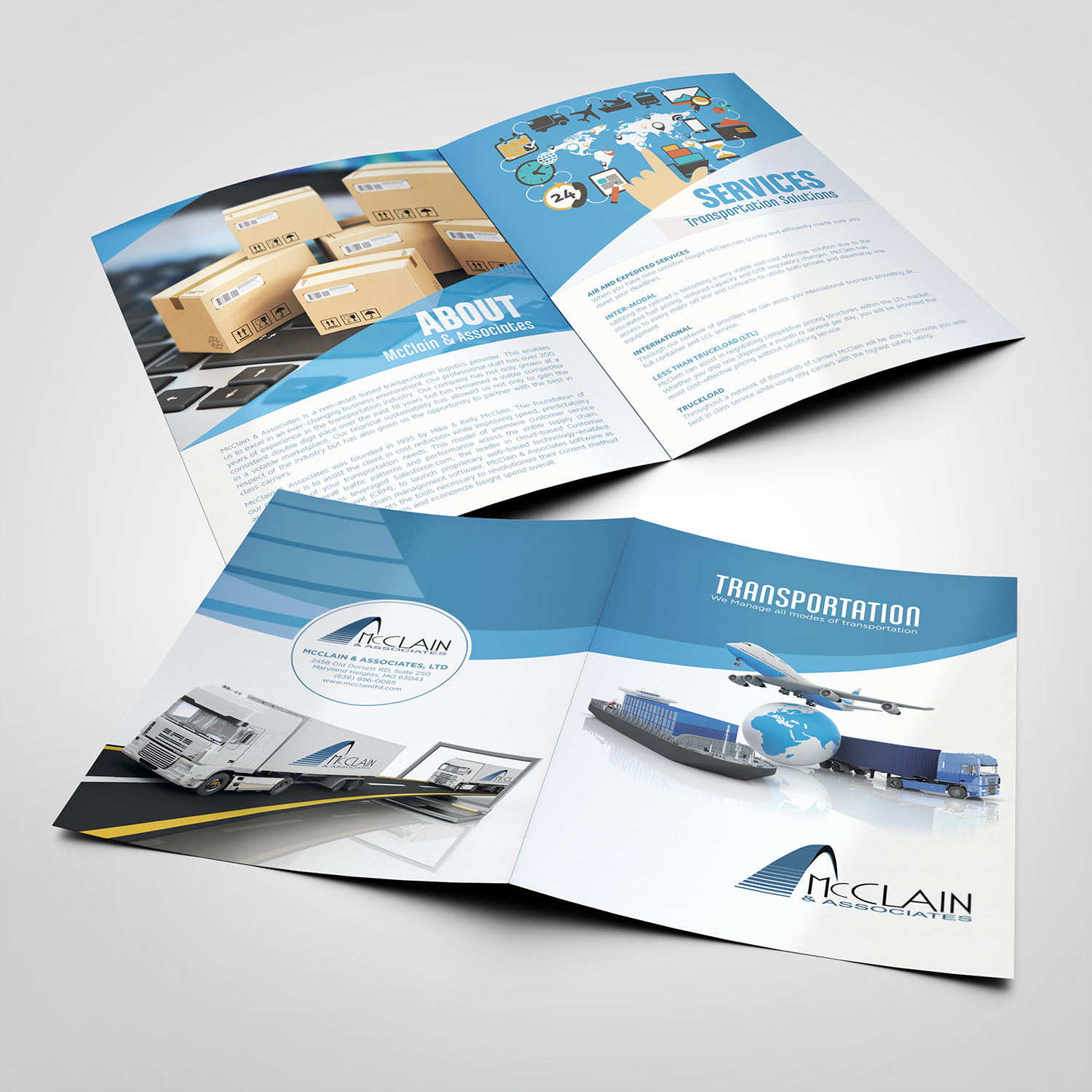 Elegant, Playful, Logistic Brochure Design for a Company by matteo
