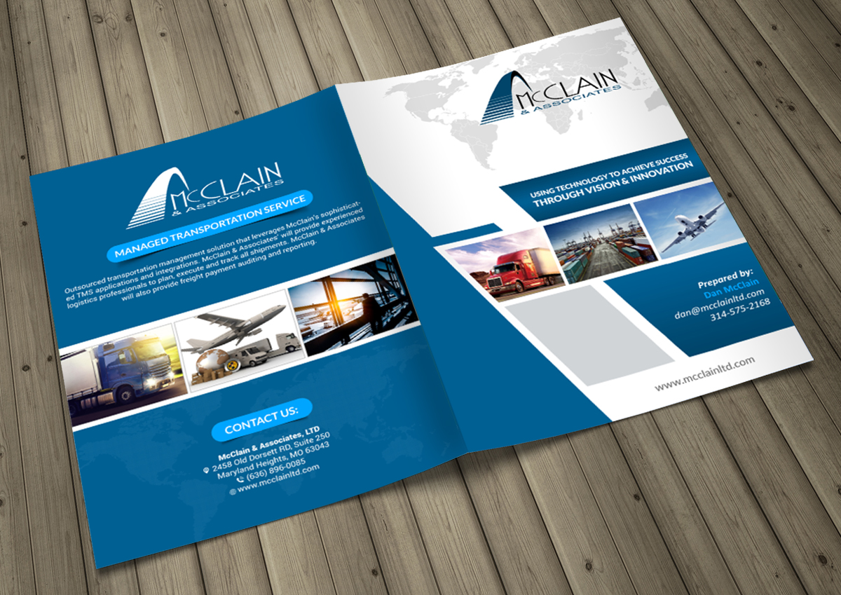 brochure design company - elegant playful logistic brochure design for a company