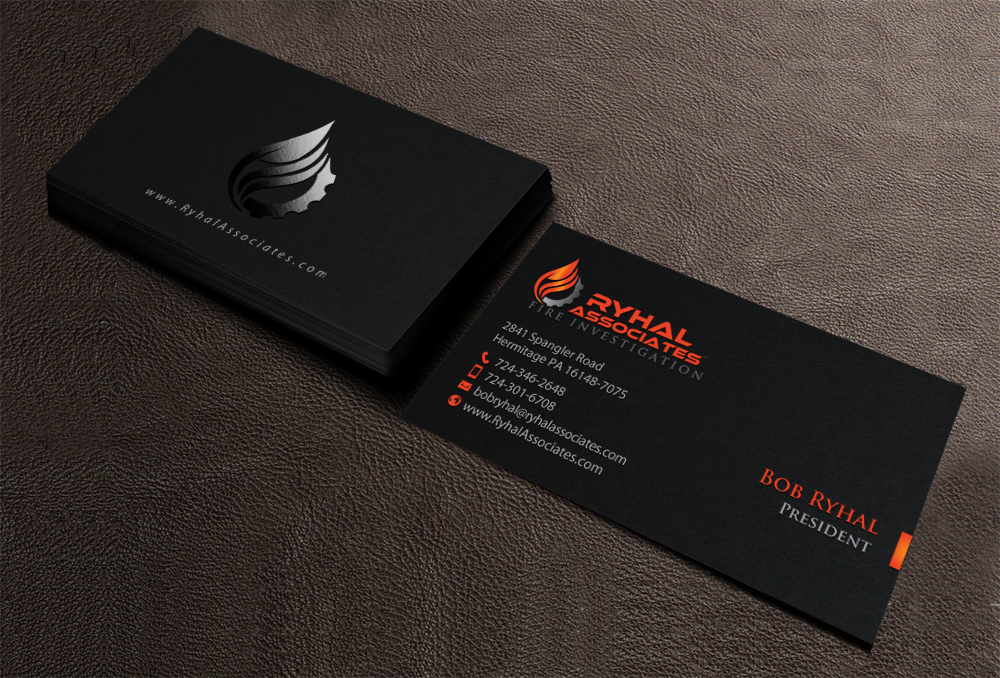 Serious masculine private investigator business card design for a business card design by chandrayaaneative for this project design 10106965 colourmoves