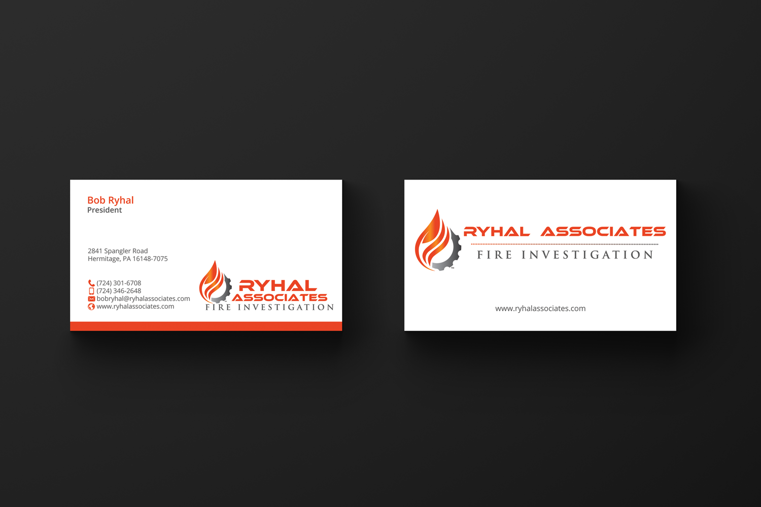 Serious Masculine Private Investigator Business Card Design For A