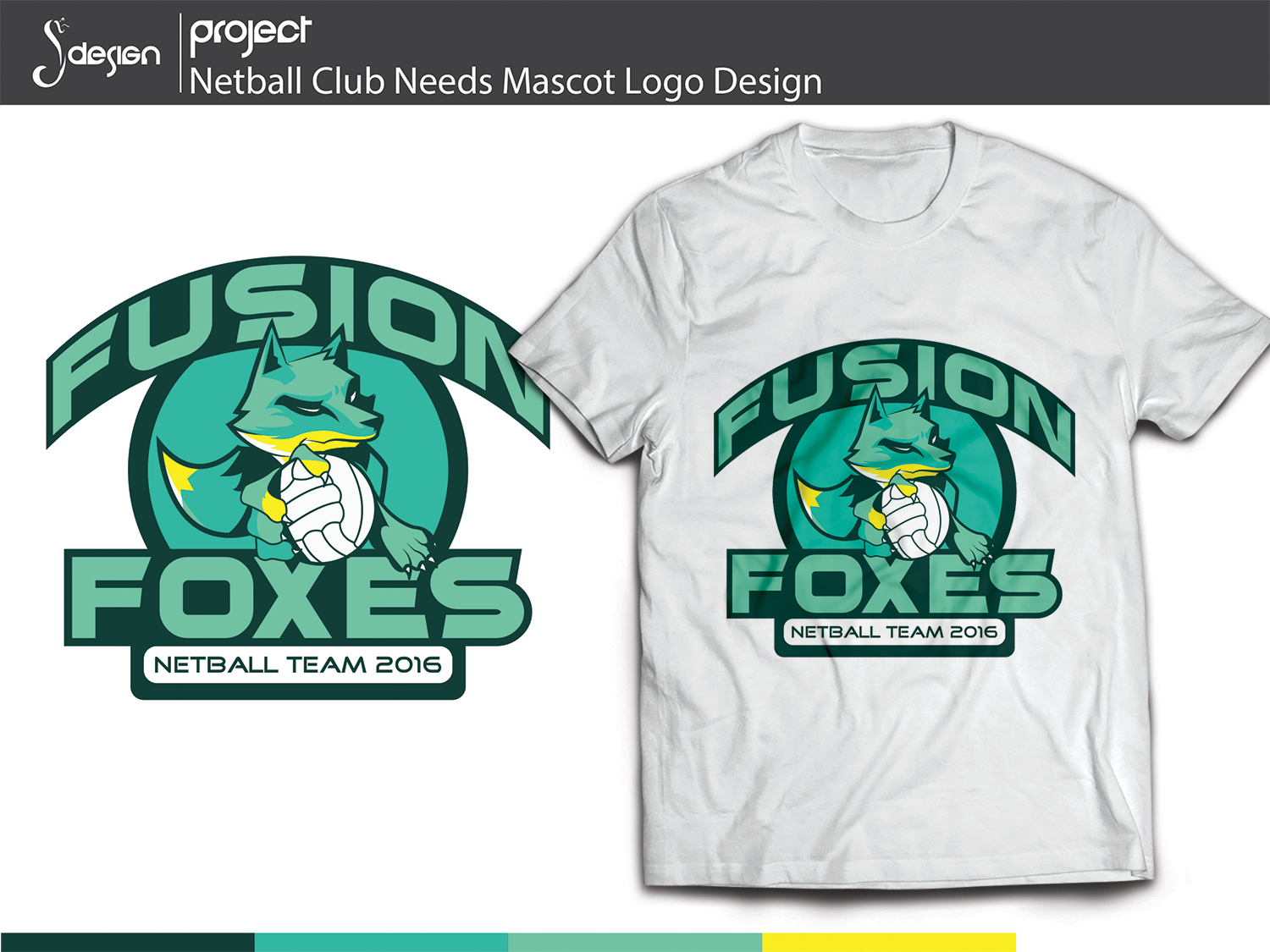 Design t shirt netball - T Shirt Design Design 10160995 Submitted To Netball Club Needs Mascot Logo
