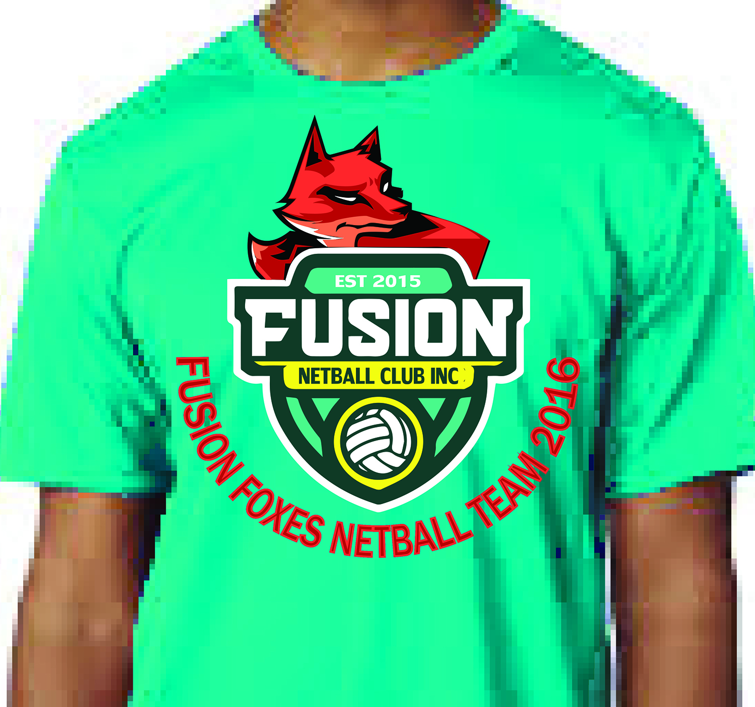 Design t shirt netball - T Shirt Design By Daradiazam For Netball Club Needs Mascot Logo Design Design