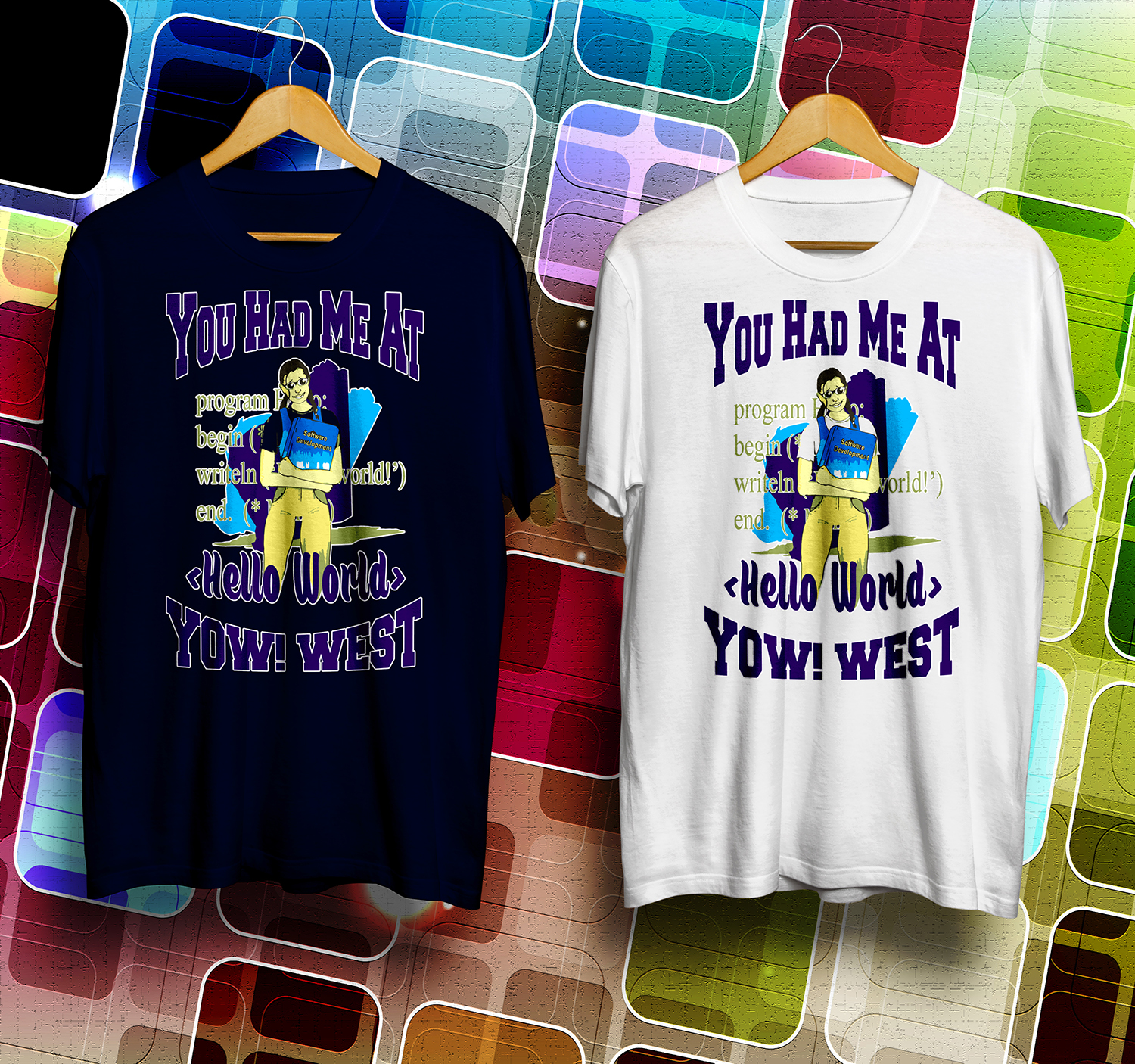 Playful Modern Software T Shirt Design For Yow Australia By