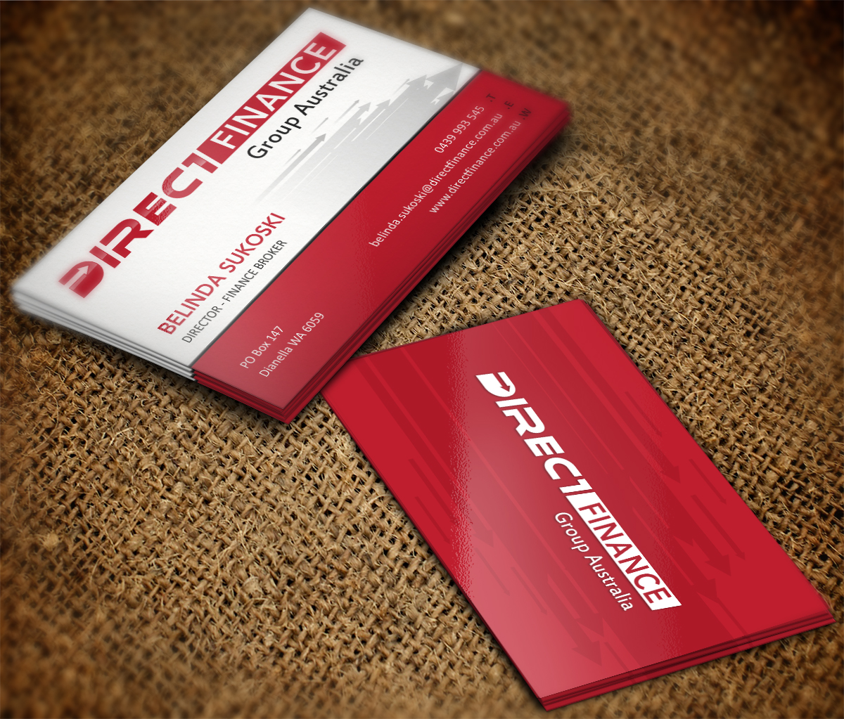 Playful, Professional, Finance Business Card Design for Direct ...