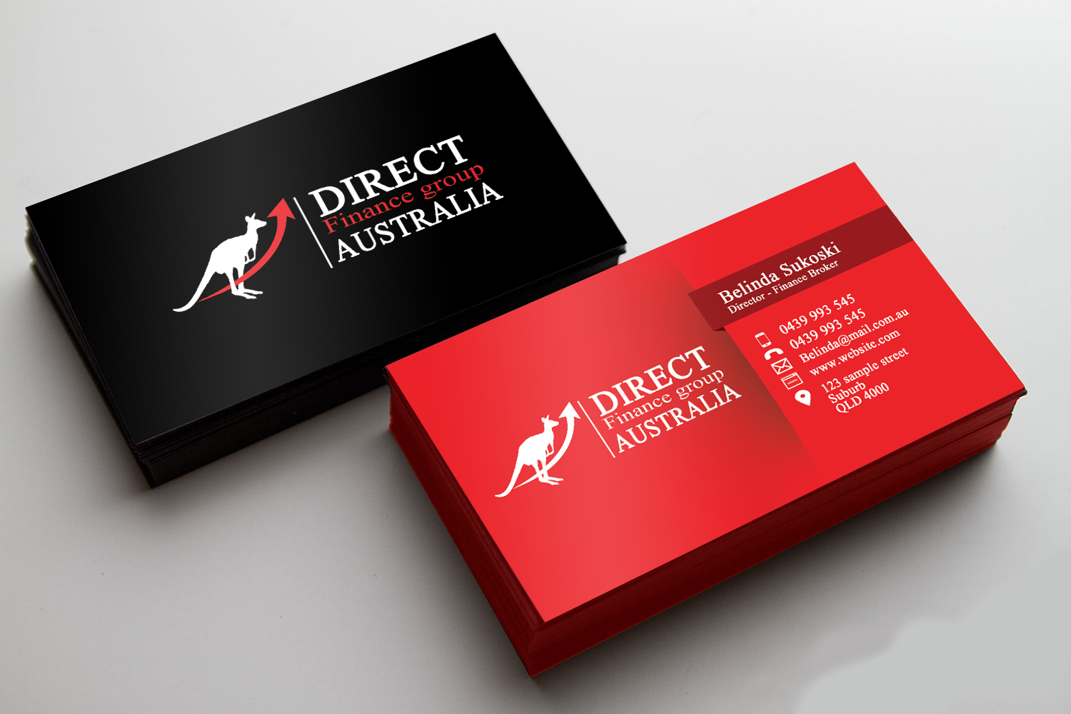 Playful professional finance business card design for direct business card design by thevensen for direct finance group australia design 10222068 reheart Images