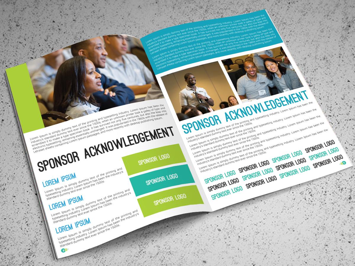 brochure design course - bold modern financial service brochure design for a