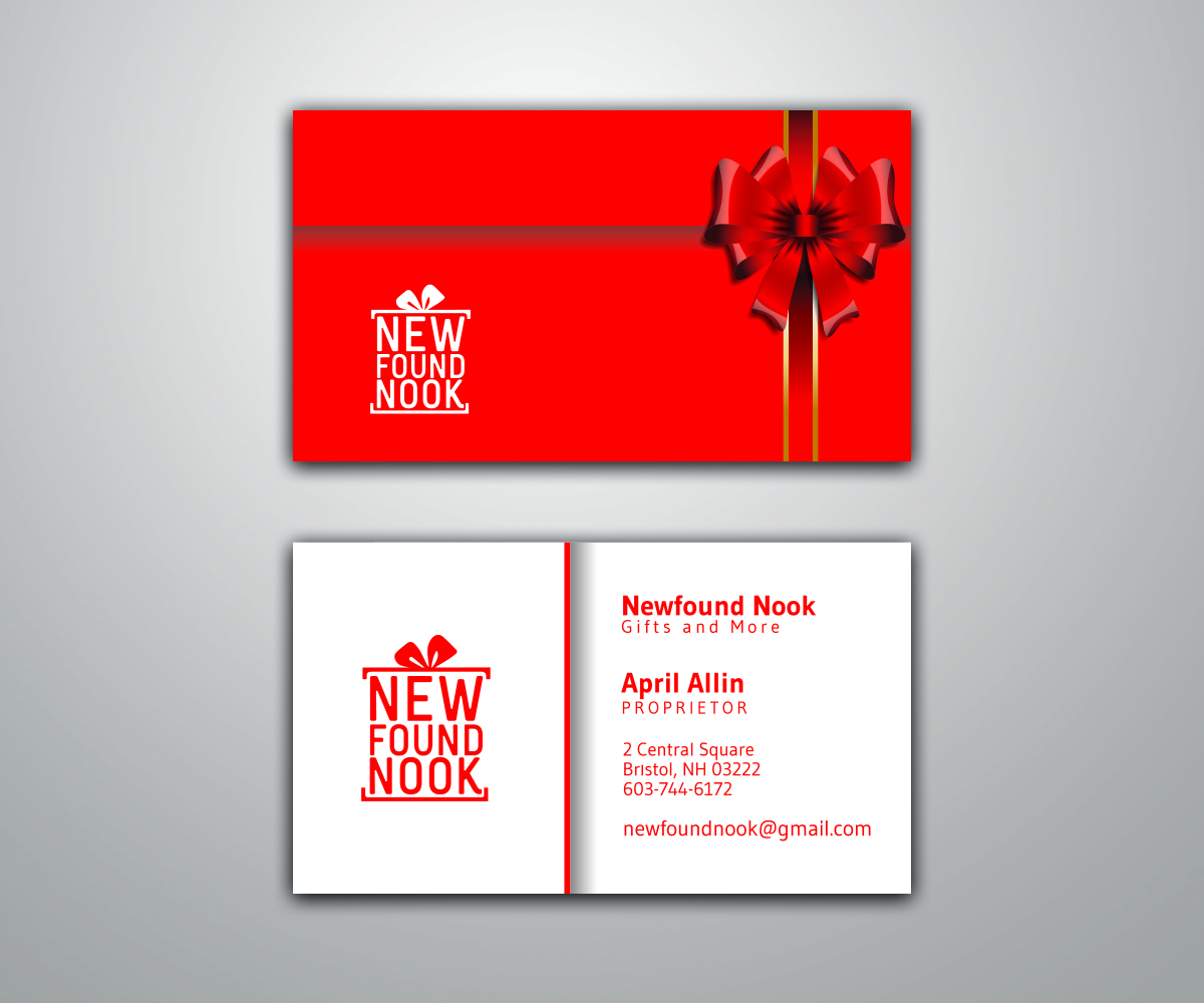 Business Card Design By UF For Newfound Nook