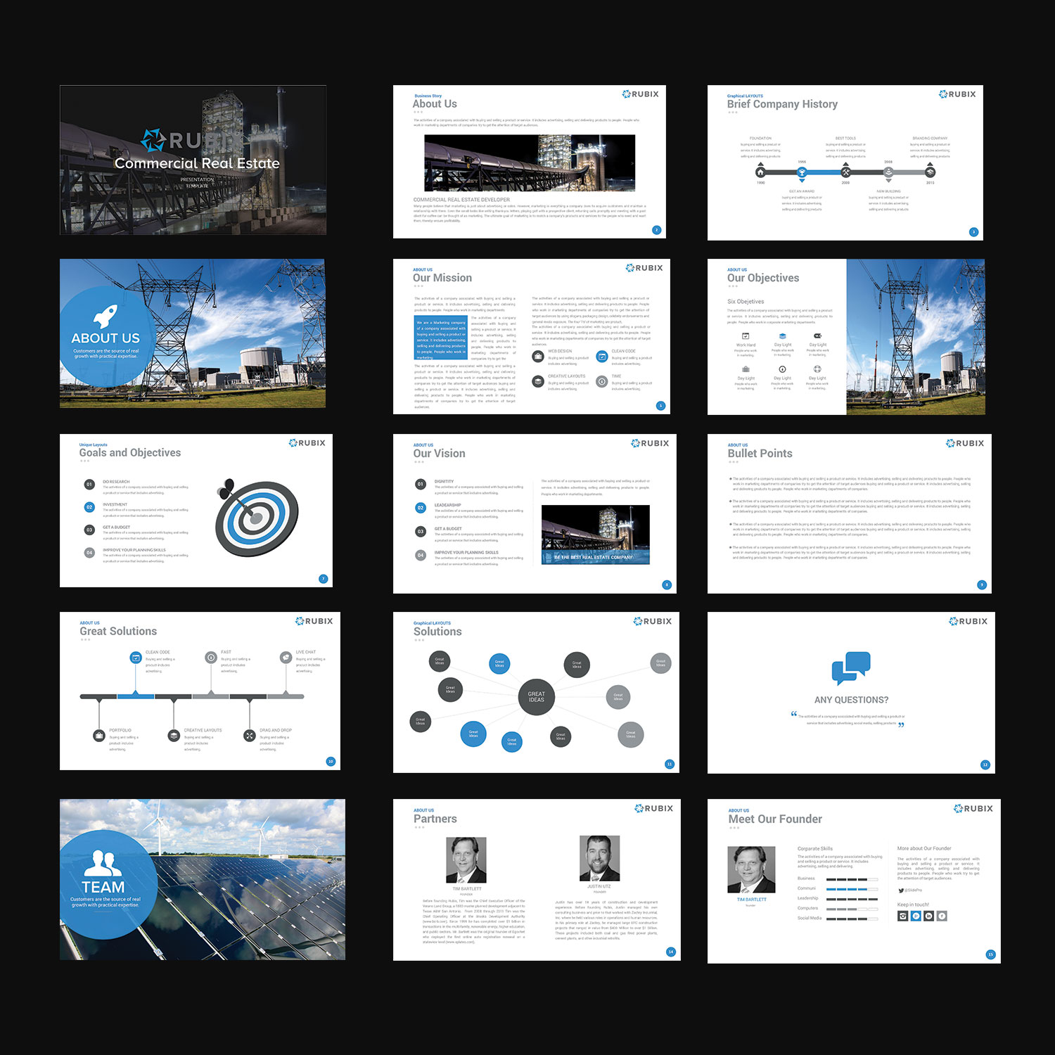Modern, Upmarket, Real Estate Development PowerPoint Design