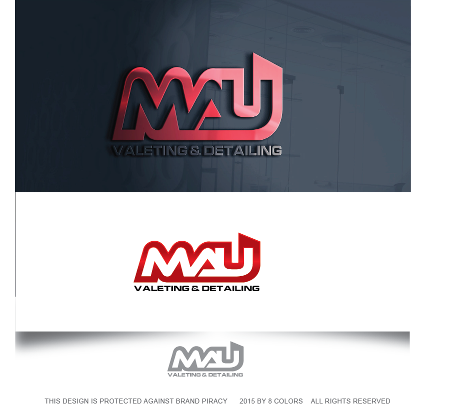Bold, Colorful, It Company Logo Design for M.A.U Valeting ...