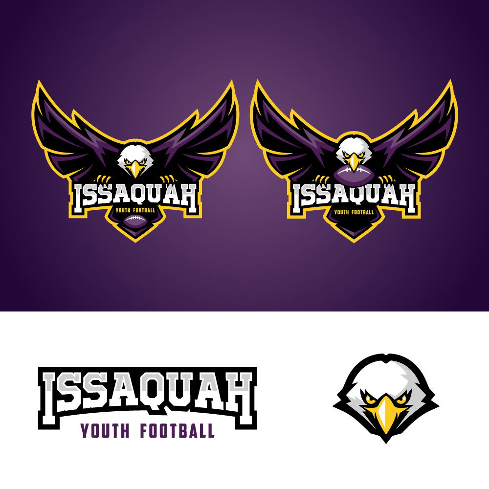 Logo Design for an Old American Youth Football by @revyali