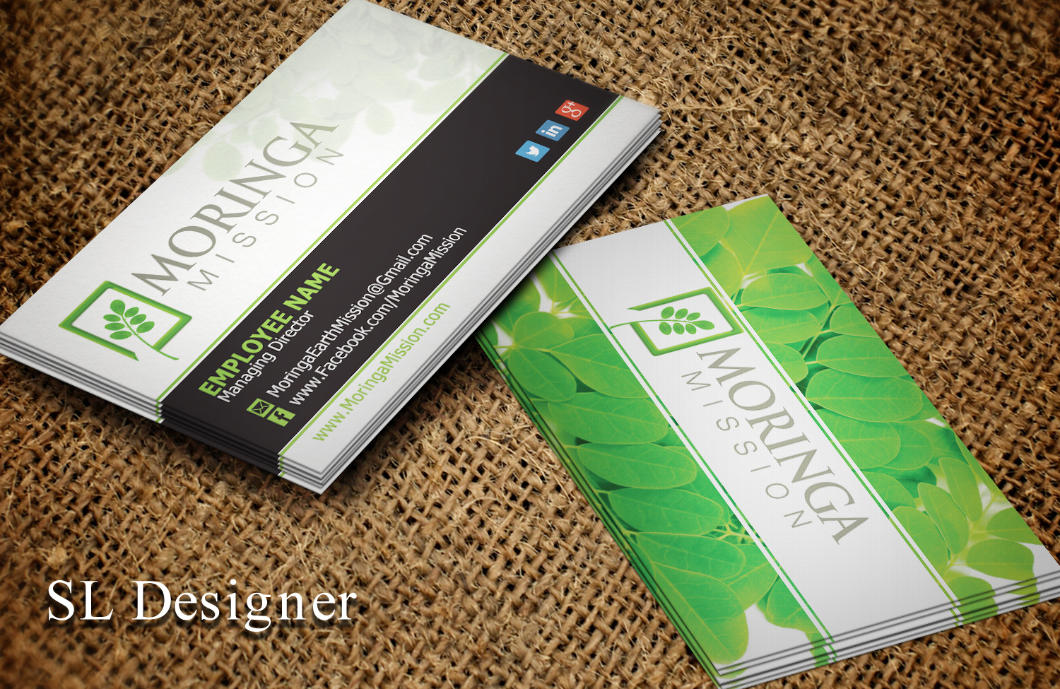 business card design by sl designer for moringa mission design 10177415 - Simple Business Card Design