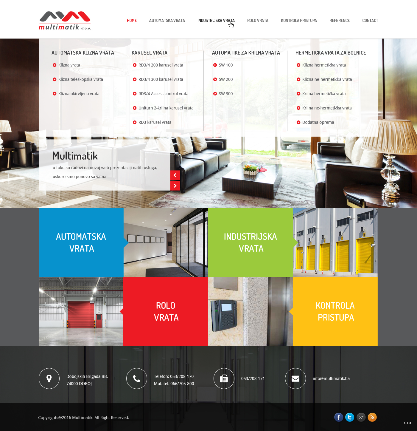 Elegant, Professional, It Company Web Design for Multimatik