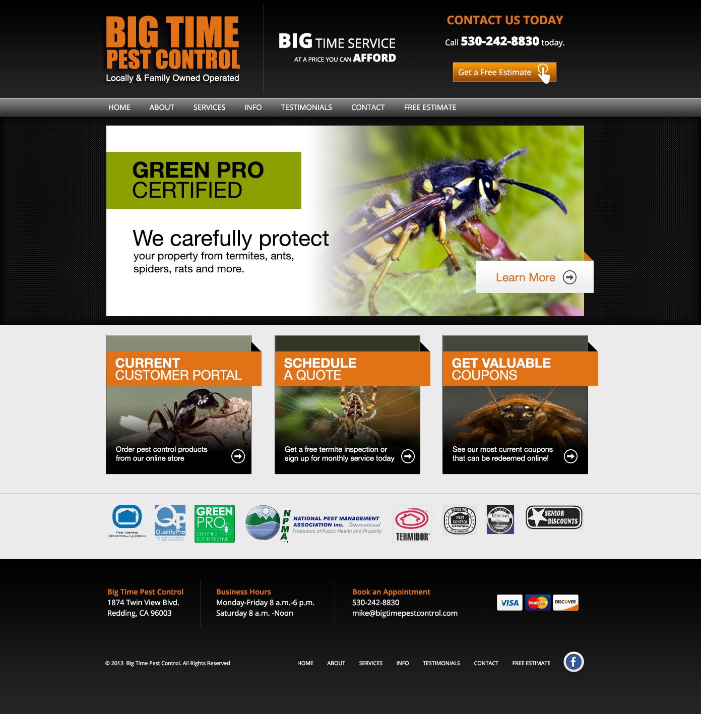 Modern Elegant Pest Control Web Design For A Company In United States 10470541